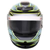 Kids Race Gear - Kids Helmets - Zamp - Zamp RZ-42Y Youth Graphic Snell CMR2016 Helmet - Green/Silver - 56cm