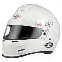 Kids Race Gear - Kids Helmets - Bell Helmets - Bell GP.2 Youth Helmet - White - 2XS (54-55) SFI24.1