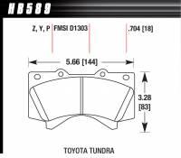 Hawk Performance - Hawk Brake Pads Rear Toyota Truck / SUV LTS