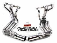 Sidemount Headers - Small Block Chevrolet Sidemount Headers - Doug's Headers - Doug's SB Chevy Side Mount Headers - Silver - 63-82 Vette