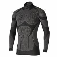 Karting Gear - Karting Underwear - Alpinestars - Alpinestars Ride Tech Winter Long Sleeve Top - Black/Gray - Medium/Large