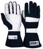 Kids Race Gear - Kids Racing Gloves - Crow Enterprizes - Crow Junior Standard Nomex Driving Gloves - Youth Medium - Black