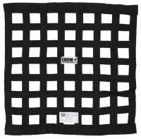 """Ribbon Window Nets - 18"""" x 18"""" Ribbon Window Nets - Crow Enterprizes - Crow Window Net - 1'' Webbing - 18"""" x 18"""" - Solid Mount Top & Bottom SFI 27.1 - Black"""