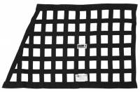 "Ribbon Window Nets - Angled Ribbon Window Nets - Crow Enterprizes - Crow Window Net - 1'' Webbing - 18"" x 24"" x 29"" - Solid Mount Top & Bottom SFI 27.1 - Black"