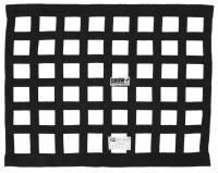 """Ribbon Window Nets - 18"""" x 24"""" Ribbon Window Nets - Crow Enterprizes - Crow Window Net - 1'' Webbing - 18"""" x 24"""" - Solid Mount Top & Bottom SFI 27.1 - Black"""