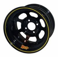 "Wheels and Tire Accessories - Aero Race Wheel - Aero 30 Series Roll Formed Wheel - Black - 13"" x 7"" - 2"" Offset - 4 x 4.25"" Bolt Circle - 15 lbs."