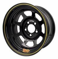 "Aero Wheels - Aero 50 Series Rolled Wheels - Aero Race Wheel - Aero 50 Series Rolled Wheel - Black - 15"" x 10"" - 5 x 4.75"" Bolt Circle - 4"" Back Spacing - 25 lbs."