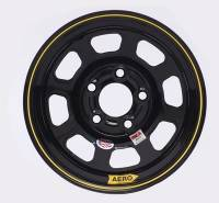 "Aero Wheels - Aero 52 Series IMCA Wheels - Aero Race Wheel - Aero 52 Series IMCA Rolled Wheel - Black - 15"" x 8"" - 5 x 4.5"" - 2"" BS - 19 lbs."