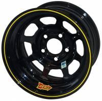 "Aero Wheels - Aero 52 Series IMCA Wheels - Aero Race Wheel - Aero 52 Series IMCA Rolled Wheel - Black - 15"" x 8"" - 5 x 4.75"" - 2"" BS - 19 lbs. - Left Rear"