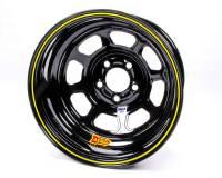 "Aero Wheels - Aero 52 Series IMCA Wheels - Aero Race Wheel - Aero 52 Series IMCA Rolled Wheel - Black - 15"" x 8"" - 5 x 5"" - 2"" BS - 19 lbs. - Left Rear"