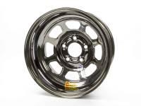 "Aero Wheels - Aero 52 Series IMCA Wheels - Aero Race Wheel - Aero 52 Series IMCA Rolled Wheel - Black Chrome - 15"" x 8"" - 5 x 5"" - 2"" BS - 19 lbs."