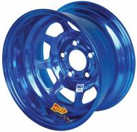 "Aero Wheels - Aero 52 Series IMCA Wheels - Aero Race Wheel - Aero 52 Series IMCA Rolled Wheel - Blue Chrome - 15"" x 8"" - 5 x 5"" - 2"" BS - 19 lbs."