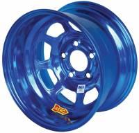 "Aero Wheels - Aero 52 Series IMCA Wheels - Aero Race Wheel - Aero 52 Series IMCA Rolled Wheel - Blue Chrome - 15"" x 8"" - 5 x 5"" - 3"" BS - 19 lbs."