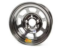"Aero Wheels - Aero 52 Series IMCA Wheels - Aero Race Wheel - Aero 52 Series IMCA Rolled Wheel - Black Chrome - 15"" x 8"" - 5 x 5"" - 4"" BS - 19 lbs. - Left Rear"