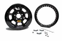 "Aero Wheels - Aero 53 Series IMCA Beadlock Wheels - Aero Race Wheel - Aero 53 Series IMCA Rolled Beadlock Wheel - Black - 15"" x 8"" - 4"" BS - 5 x 4.50"" - 23 lbs."