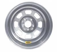 "Aero Wheels - Aero 58 Series Lightweight Rolled Wheels - Aero Race Wheel - Aero 58 Series Rolled Wheel - Silver - 15"" x 10"" - 5 x 4.75"" Bolt Circle - 3"" Back Spacing - 21 lbs."