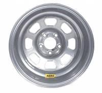 "Aero Wheels - Aero 58 Series Lightweight Rolled Wheels - Aero Race Wheel - Aero 58 Series Rolled Wheel - Silver - 15"" x 10"" - 5 x 5"" Bolt Circle - 2"" Back Spacing - 21 lbs."