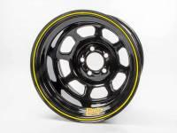 "Aero Wheels - Aero 58 Series Lightweight Rolled Wheels - Aero Race Wheel - Aero 58 Series Rolled Wheel - Black - 15"" x 10"" - 5 x 5"" Bolt Circle - 2"" Back Spacing - 21 lbs."