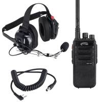 Radios, Transponders & Scanners - Radio Communication Systems - Rugged Radios - Rugged Radios RDH 5 Watt VHF Digital Handheld Radio Crew Chief Or Spotter Kit With Carbon Fiber Headset