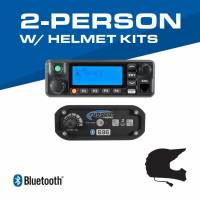 Rugged Radios - Rugged Radios 2-Person - 696 Complete Communication System - with Helmet Kits