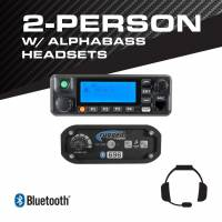 Rugged Radios - Rugged Radios 2-Person - 696 Complete Communication System - with ALPHA BASS Headsets