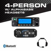 Rugged Radios - Rugged Radios 4-Person - 696 Complete Communication System - with ALPHA BASS