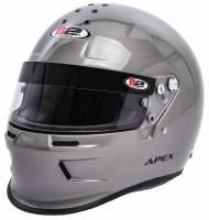 Safety Equipment - B2 Helmets - B2 ApexHelmet - Metallic Silver - Small