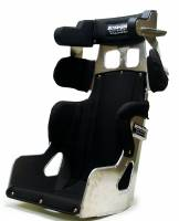 """Ultra Shield Race Products - Ultra Shield 15"""" FC1 Seat - 10 Degree - 1"""" Taller - Black Cover"""