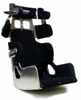 """Ultra Shield Race Products - Ultra Shield 16"""" FC1 Late Model Seat - 20 Degree- 1"""" Taller - Black Cover"""