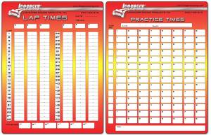Tools & Pit Equipment - Timing & Scoring - Timing, Scoring & Checklist Sheets