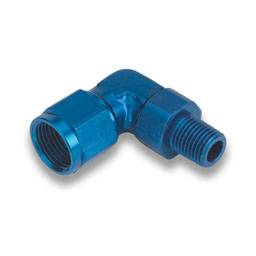 Fittings & Hoses - Pipe Thread to AN Adapters - 90° Male Pipe Thread to Female AN