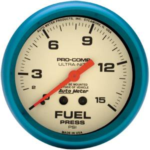 Sprint Car Parts - Gauges & Gauge Panels - Fuel Pressure Gauge