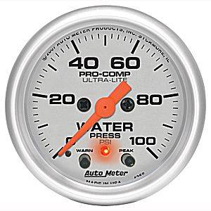 Gauges & Dash Panels - Gauges - Water Pressure Gauges