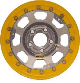 "Aero Wheels - Aero 53 Series Rolled Beadlock Wheels - Aero 53 Series 15"" x 10"" - 5 x 4.5"" (Ford)"