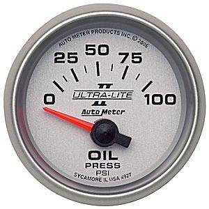 Gauges - Oil Pressure Gauges - Electric Oil Pressure Gauges