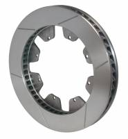 "Wilwood Rotors - Wilwood GT Curved Vane Brake Rotors - Wilwood Engineering - Wilwood GT 48 Curved Vane Rotor - LH - 8 Bolt - 1.25"" Width - 12.72"" Diameter x 7"" Bolt Circle - .313"" Hole - 12.6 lbs."