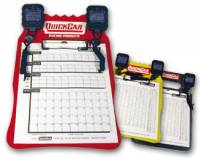 Pit Equipment - Timing Clipboards - QuickCar Racing Products - QuickCar Clipboard Timing System - Yellow - (2) Robic SC505 Watches