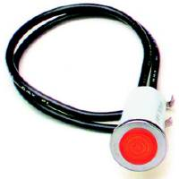 "Interior Lighting - Indicator Lights - Painless Performance Products - Painless Performance 1/2"" Red Light"