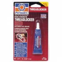 Chemicals - Thread Locker & Sealant - Permatex - Permatex® High Strength Threadlocker - Red - 6 ml Tube
