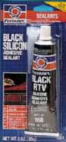 Gaskets & Seals - Gasket Sealants - Permatex - Permatex® Black Silicone Adhesive Sealant - 3 oz. Tube
