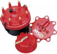 Distributors Parts & Accessories - Distributor Cap & Rotor Kits - MSD - MSD Cap-A-Dapt - Fixed Rotor - 8 Cylinder Applications