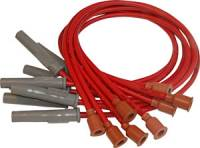 Spark Plug Wires - MSD 8.5mm Super Conductor Spark Plug Wire Sets - MSD - MSD Custom Fit Super Conductor Spark Plug Wire Set - (Red) - Fits 1973-On Mopar 318/340/360 Cars & Trucks w/ #MSD8549, #MSD8386 Distributor - 90° HEI Distributor Boots & Terminals, Multi-Angle Spark Plug Boots & Terminals