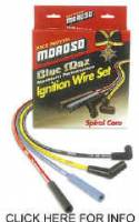 Moroso Spark Plug Wires - Moroso Blue Max Spiral Core Wires - Moroso Performance Products - Moroso Blue Max Spiral Core Ignition Wire Set - 1974-81 Buick/Olds/Pontiac V8 Engines w/ HEI
