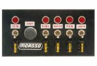 "Switch Panels - Moroso Switch Panels - Moroso Performance Products - Moroso Switch Panel w/ Starter Button - 4"" x 7.75"""
