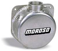 "Radiator Accessories - Overflow & Expansion Tanks - Moroso Performance Products - Moroso Aluminum Cooling System Expansion Tank - Billet Filler Neck - 1-1/2 Quart Capacity - 3-5/8"" Deep"