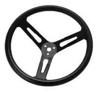 "Steering Wheels - Steel Competition Steering Wheels - Longacre Racing Products - Longacre 17"" Steel Steering Wheel - Black w/ Smooth Grip"