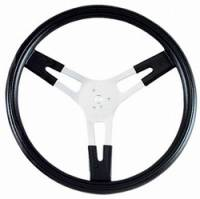 "Steering Wheels - Aluminum Competition Steering Wheels - Grant Products - Grant Performance Series 15"" Aluminum Steering Wheel - Finger Grips - 1-1/2"" Dish"