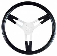 "Competition Steering Wheels - Aluminum - 15"" Aluminum Steering Wheels - Grant Steering Wheels - Grant Performance Series 15"" Aluminum Steering Wheel - Finger Grips - 3-1/8"" Dish"