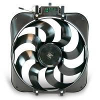 """Electric Fans - Flex-a-Lite Electric Fans - Flex-A-Lite - Flex-A-Lite Black Magic Xtreme Series Electric Fan - Electric Fan - 15"""" Diameter - S-Blade - Puller - 3,000 CFM - Black - Plastic"""