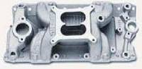 Intake Manifolds - Small Block Chevrolet - Edelbrock Intake Manifolds - SBC - Edelbrock - Edelbrock Performer RPM Air-Gap Intake Manifold - SB Chevy - Polished - (Non-EGR)